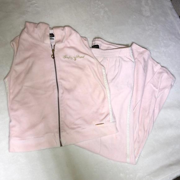 Baby Phat Pants Jumpsuits Vintage Velour Track Suit Vest Pink Poshmark